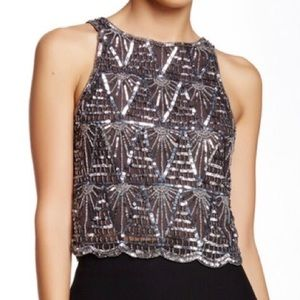 W118 by Walter Baker Charlotte Beaded Crop Top